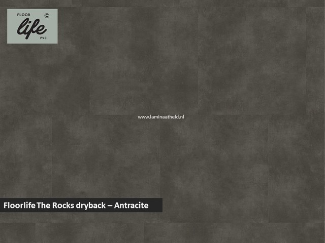 Floorlife The Rocks dryback pvc - Antracite