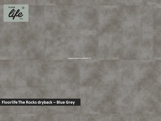 Floorlife The Rocks dryback pvc - Blue Grey