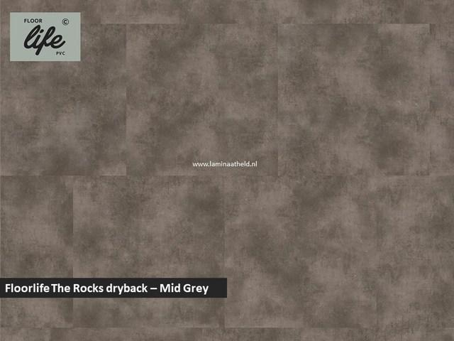 Floorlife The Rocks dryback pvc - Mid Grey