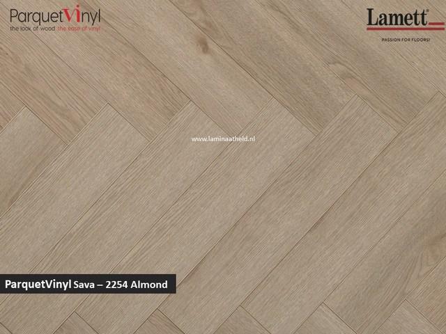 Lamett Parquetvinyl Sava visgraat - Almond SAV2254