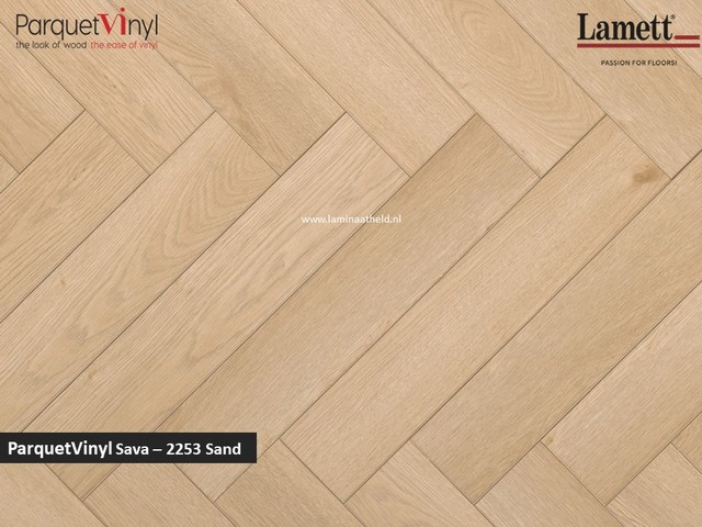 Lamett Parquetvinyl Sava visgraat - Sand SAV2253