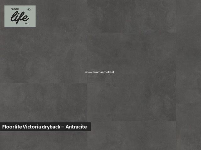 Floorlife Victoria dryback pvc - Antracite