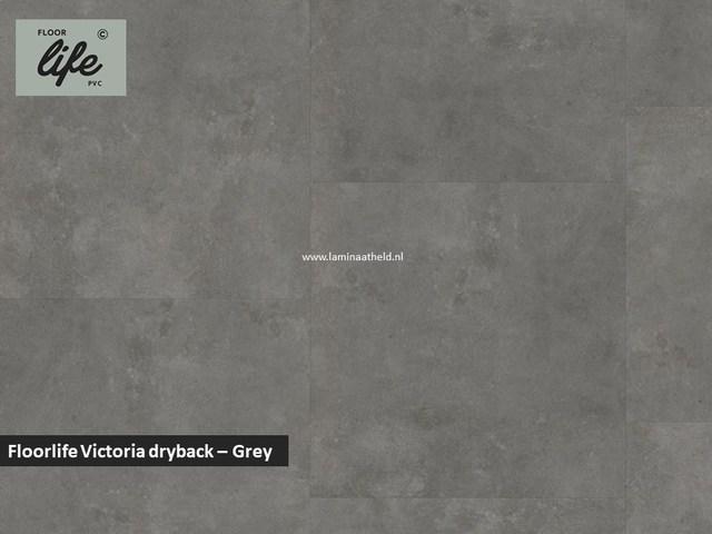 Floorlife Victoria dryback pvc - Grey
