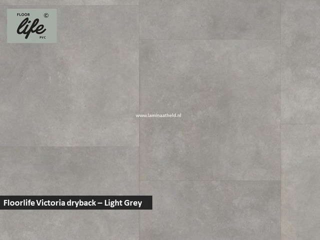 Floorlife Victoria dryback pvc - Light Grey