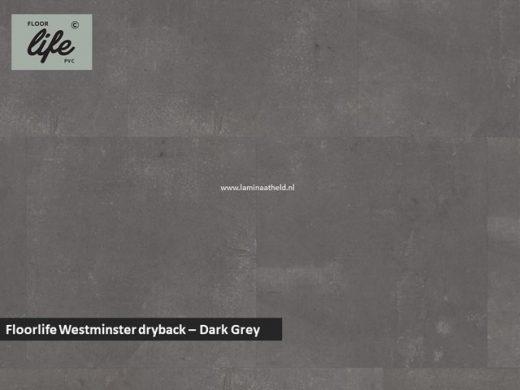 Floorlife Westminster dryback pvc - Dark Grey