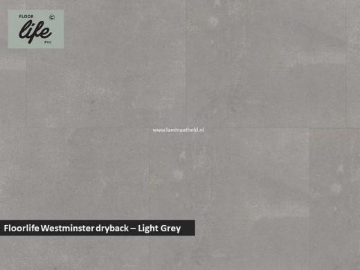 Floorlife Westminster dryback pvc - Light Grey