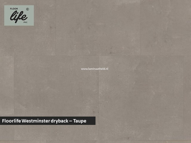 Floorlife Westminster dryback pvc - Taupe