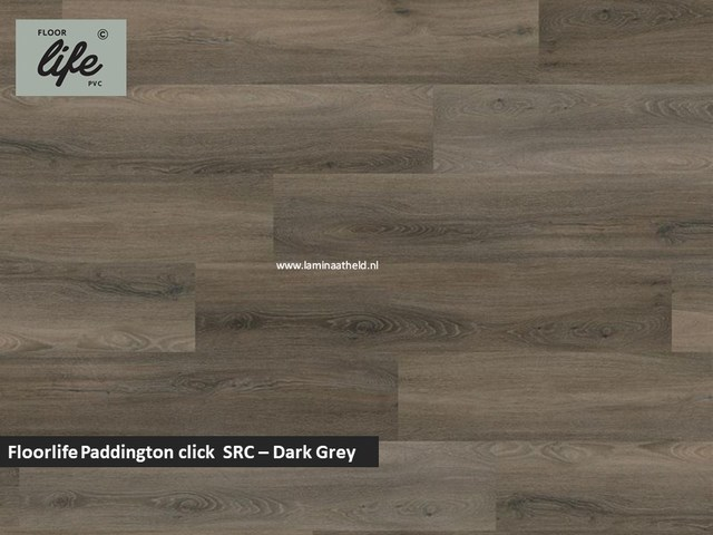 Floorlife Paddington click SRC pvc - Dark grey