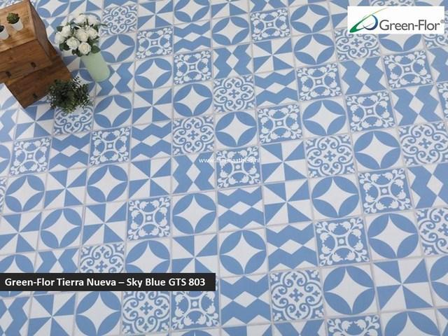 Green-Flor Tierra Nueva - Sky Blue GTS803