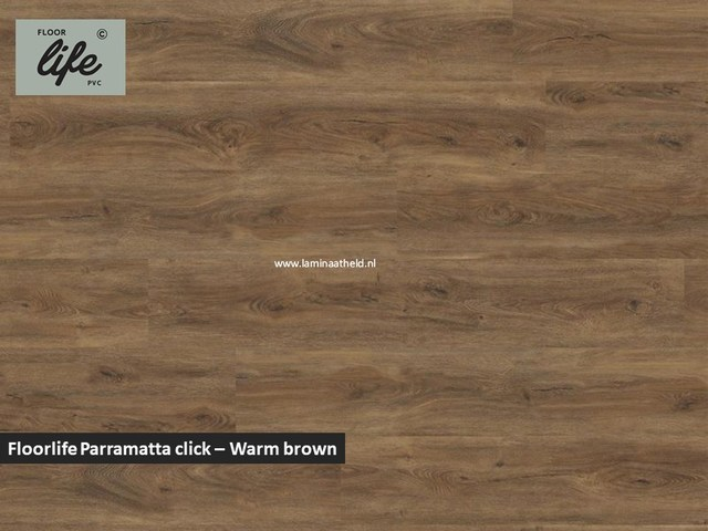Floorlife Parramatta click SRC pvc - Warm Brown