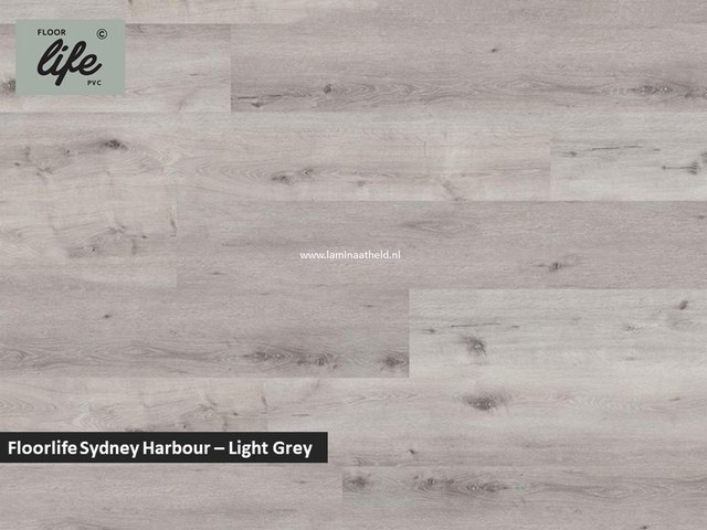 Floorlife Sydney Harbour click SRC pvc - Light Grey
