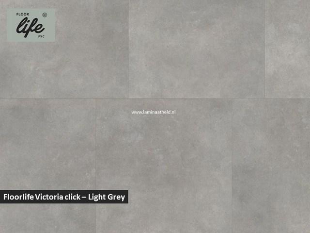 Floorlife Victoria click pvc - Light Grey