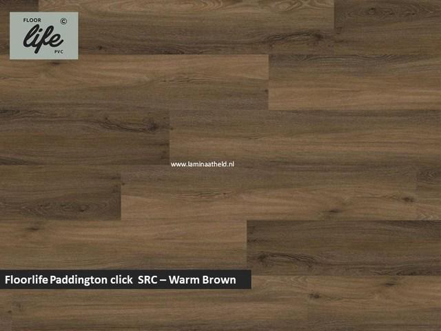 Floorlife Paddington click SRC pvc - Warm Brown