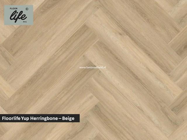 Floorlife Yup Herringbone click SRC pvc - Beige