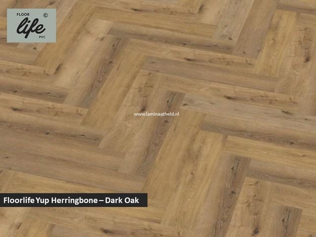 Floorlife Yup Herringbone click SRC pvc - Dark Oak
