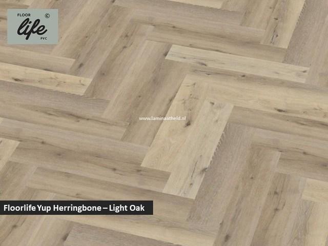 Floorlife Yup Herringbone click SRC pvc - Light Oak