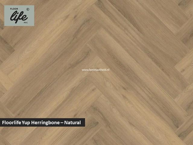 Floorlife Yup Herringbone click SRC pvc - Natural