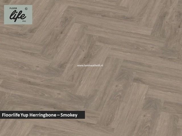 Floorlife Yup Herringbone click SRC pvc - Smoky