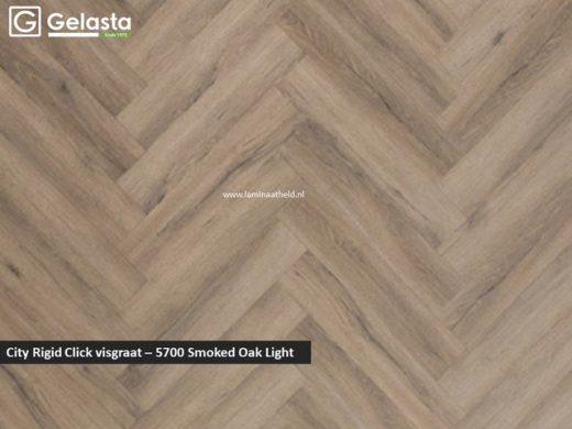 City Rigid Click visgraat - 5700 Smoked Oak Light