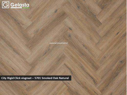 City Rigid Click visgraat - 5701 Smoked Oak Natural