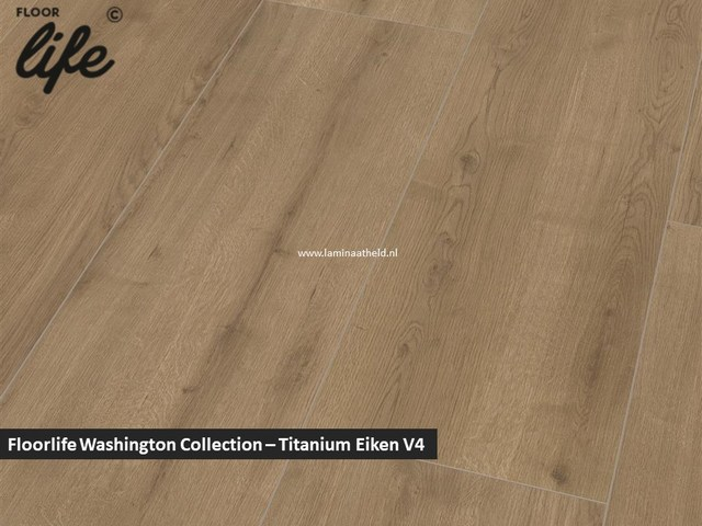 Floorlife Washington Collection - Titanium eiken V4