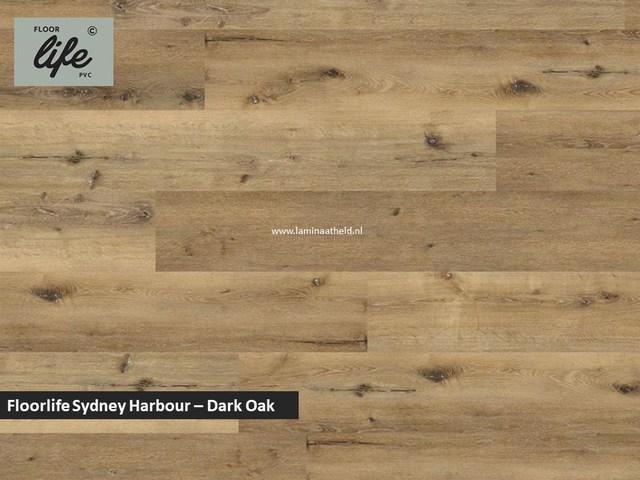 Floorlife Sydney Harbour Collection dryback pvc - Dark Oak
