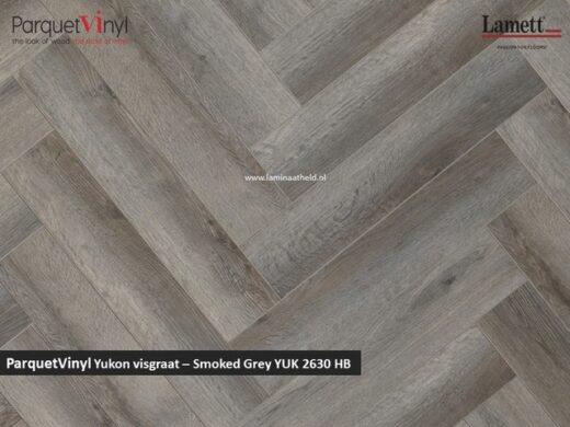 Lamett Parquetvinyl Yukon visgraat - Smoked Grey YUK2630